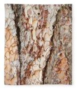 Tree Bark Fleece Blanket