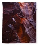 Upper Antelope Canyon, Arizona Fleece Blanket