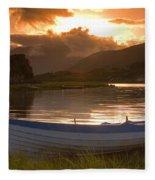 Upper Lake, Killarney National Park Fleece Blanket