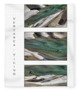 Verzasca Stones Fleece Blanket
