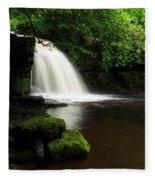 West Burton Falls In Wensleydale Fleece Blanket