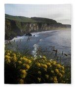 Wildflowers At The Coast, County Fleece Blanket