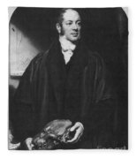 William Buckland, English Paleontologist Fleece Blanket