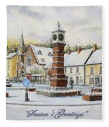 Winter In Twyn Square Fleece Blanket