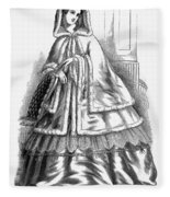 Womens Fashion. C1850s Fleece Blanket