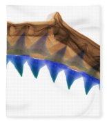 X-ray Of Shark Jaws Fleece Blanket