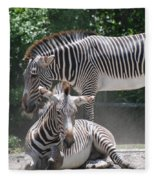 Zebras Fleece Blanket