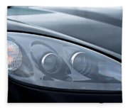 2002 Chevrolet Corvette Head Light Fleece Blanket