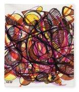 2010 Abstract Drawing 24 Fleece Blanket
