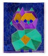 2010 Cubist Owl Negative Fleece Blanket