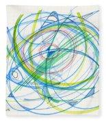 2012 Drawing #11 Fleece Blanket