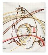 2012 Drawing #7 Fleece Blanket