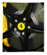 2012 Ferrari 458 Spider Brake Pad Yellow Fleece Blanket