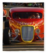 2012 Grants Pass Cruise - Hot Rod Rules Fleece Blanket