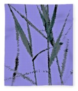 Water Reed Digital Art Fleece Blanket