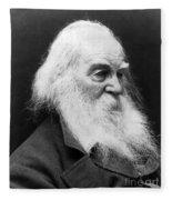 Walt Whitman (1819-1892) Fleece Blanket