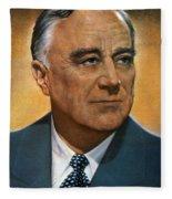 Franklin D. Roosevelt Fleece Blanket