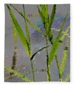 Water Reed Digital Art Fleece Blanket