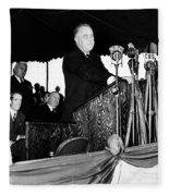 Franklin D. Roosevelt Fleece Blanket