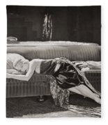 Silent Film Still: Woman Fleece Blanket