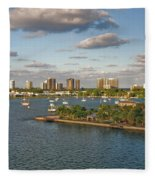 27- Singer Island Skyline Fleece Blanket