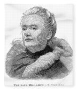 Amelia A. B. Edwards Fleece Blanket