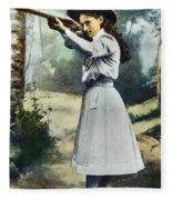 Annie Oakley (1860-1926) Fleece Blanket