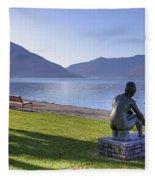 Ascona - Lake Maggiore Fleece Blanket