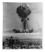 Atomic Bomb Explosion Fleece Blanket