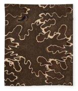 Baculites Fossil Fleece Blanket
