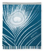 Balance Fleece Blanket by Linda Woods