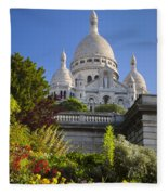 Basilique Du Sacre Coeur Fleece Blanket