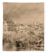 Battle Of Fredericksburg Fleece Blanket