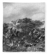 Battle Of Monmouth, 1778 Fleece Blanket