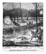 Battle Of Shiloh, 1862 Fleece Blanket
