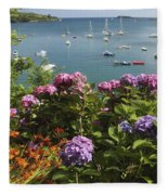 Bay Beside Glandore Village In West Fleece Blanket