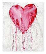 Bleeding Heart Fleece Blanket