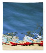 Boat Reflections At Sea Fleece Blanket