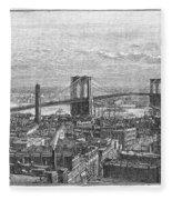 Brooklyn Bridge, 1883 Fleece Blanket