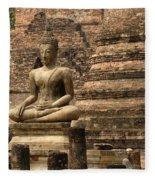 Buddha At Sukhothai Fleece Blanket