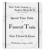Burial Of Ulysses S. Grant Fleece Blanket