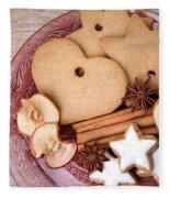 Christmas Gingerbread Fleece Blanket