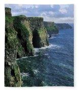 Cliffs Of Moher, Co Clare, Ireland Fleece Blanket