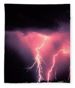 Cloud-to-ground Lightning Fleece Blanket