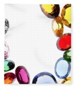 Colorful Gems Fleece Blanket