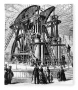 Corliss Steam Engine, 1876 Fleece Blanket