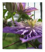 Double Clematis Named Crystal Fountain Fleece Blanket