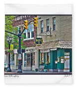 Downtown Willoughby Fleece Blanket