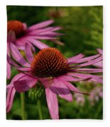 Eastern Purple Coneflower Fleece Blanket