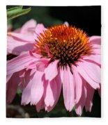 Echinacea Purpurea Or Purple Coneflower Fleece Blanket